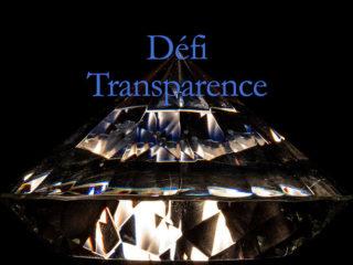 Défi «Transparence».